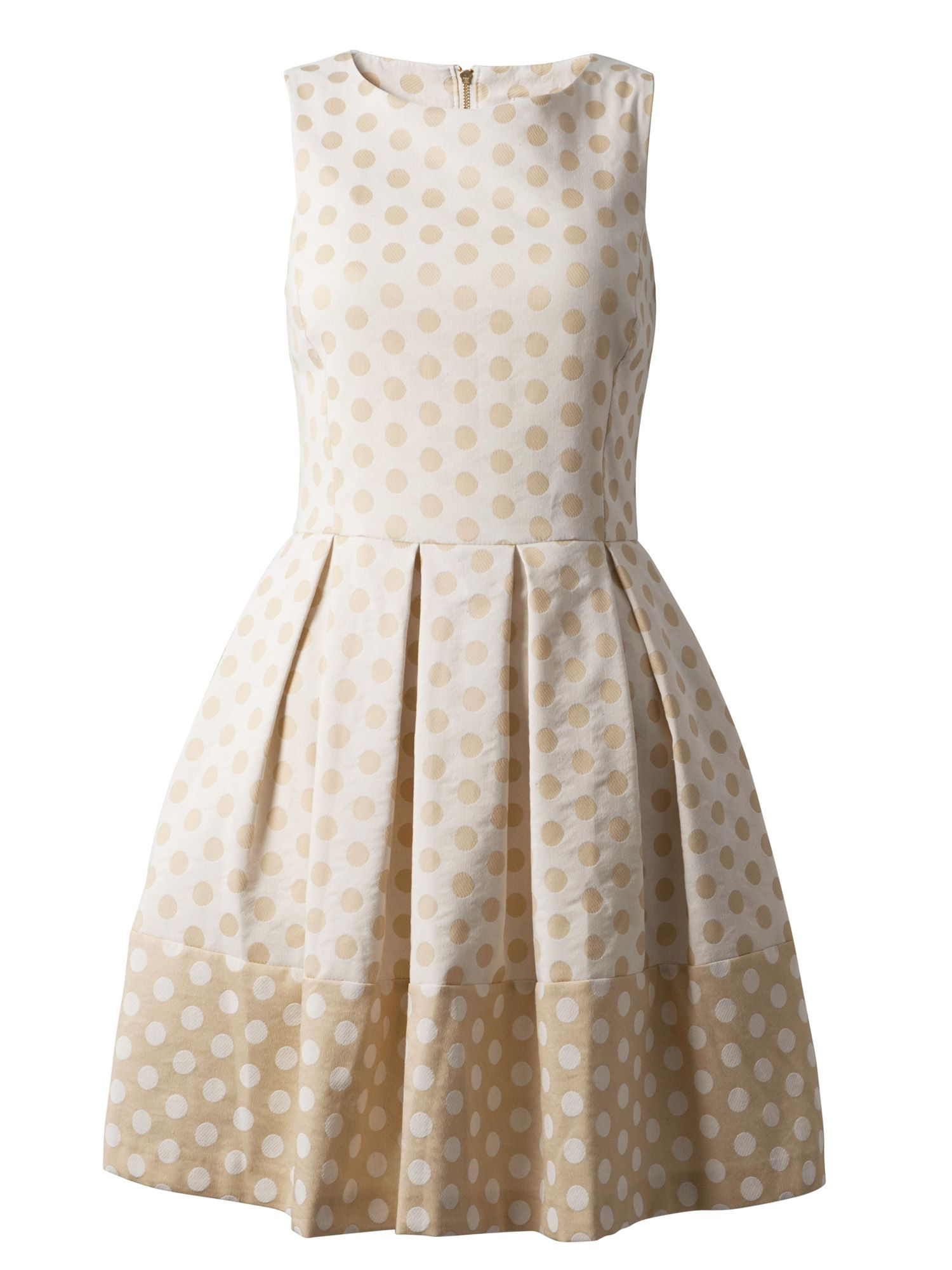 Polka dot flared dress