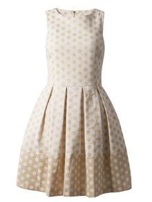 Almari Polka dot flared dress