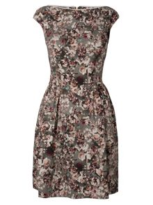 Almari Floral Slash Neck Rick Rack Trim