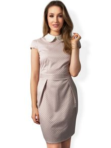 Almari Embellished Collar Spot Dress