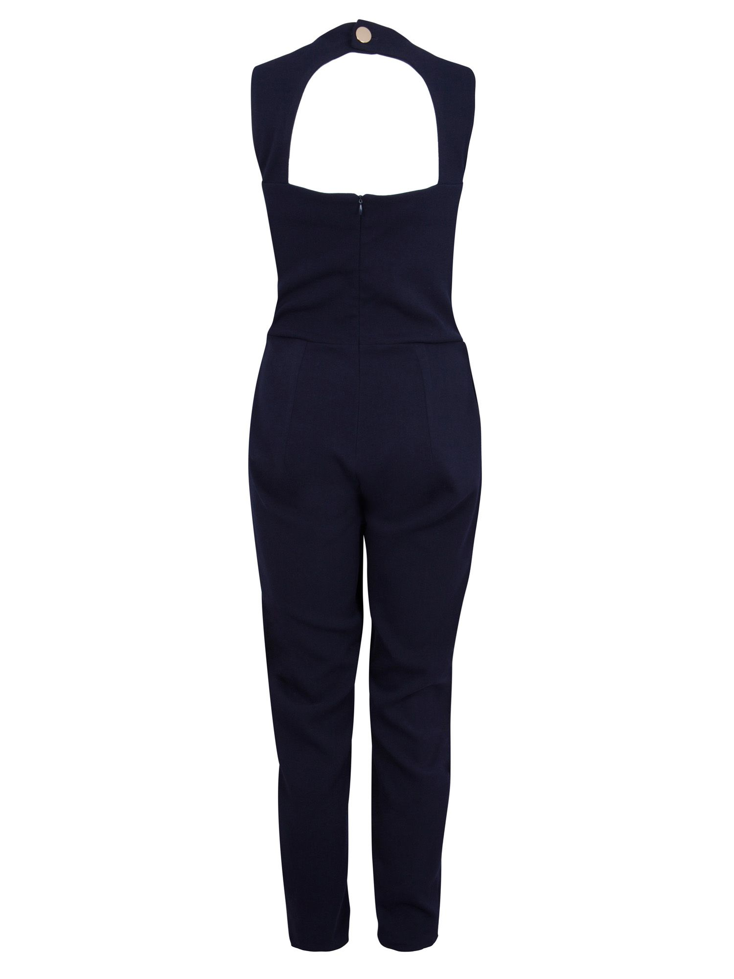 Wrap cut out back jumpsuit