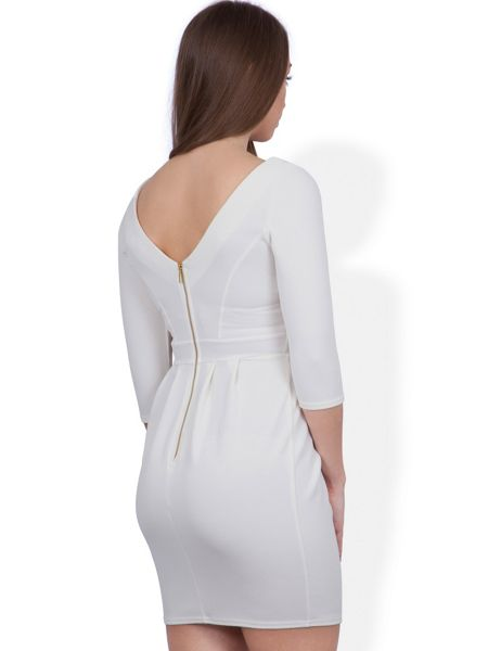 Closet Textured V Front And Back Dress