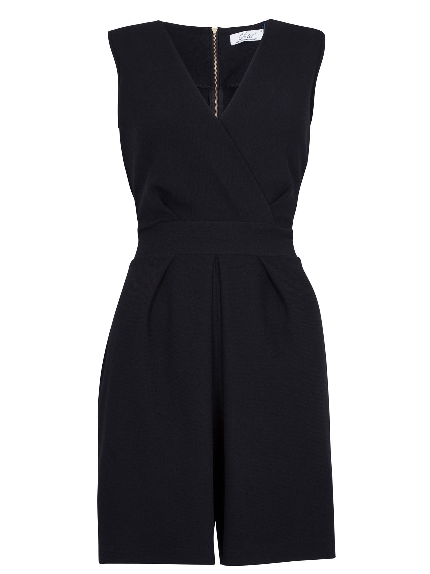 Wrap tie back playsuit
