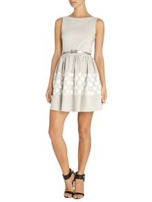 Almari Big spot lace bow belt dress
