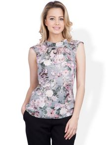Almari Floral v back collar blouse