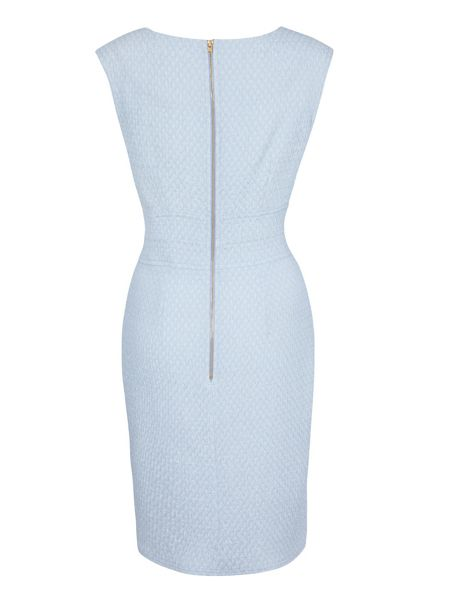 Almari V neck lurex bodycon dress