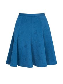 Almari Embossed scuba panel skirt