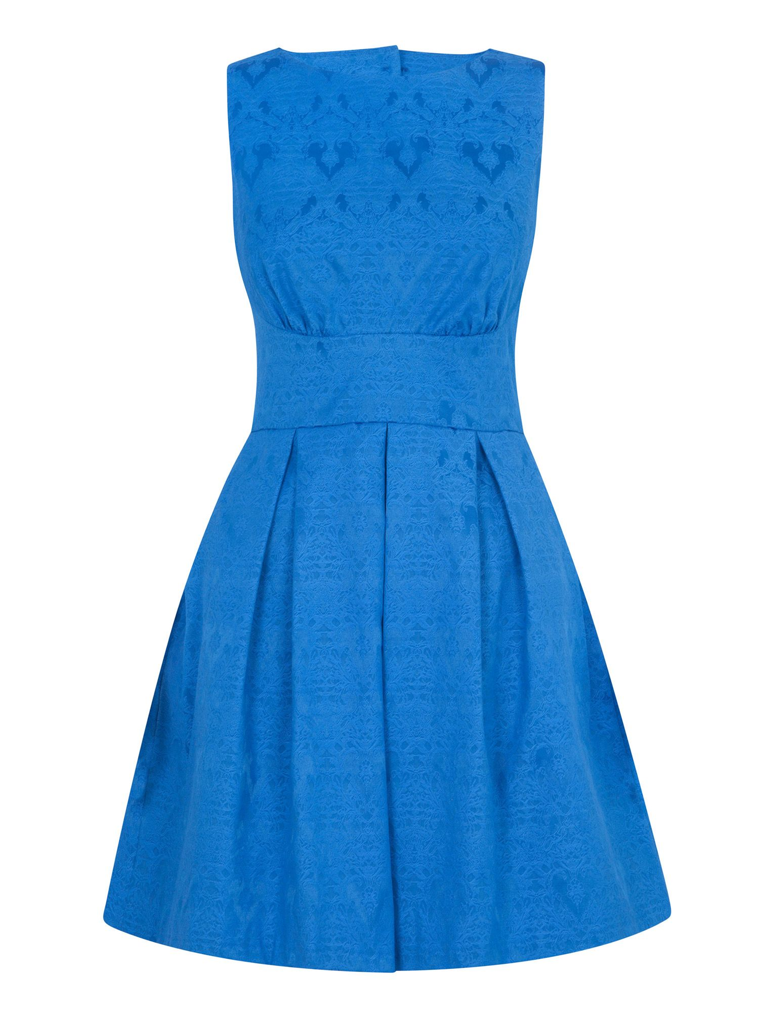 Jacquard cut out back dress