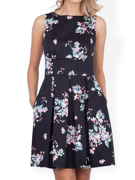 Closet Cut out back floral full dress