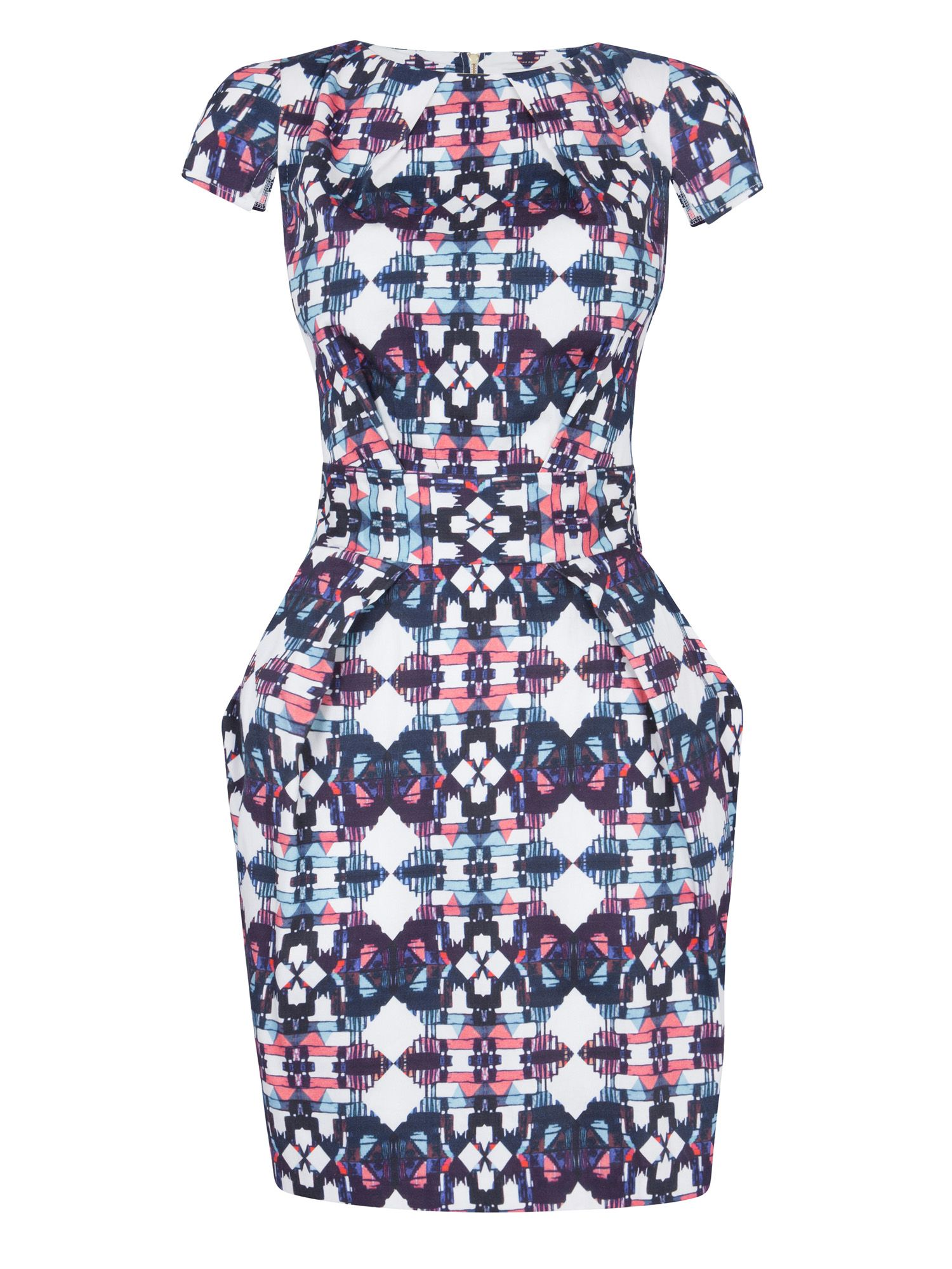 Tribal print tie back dress