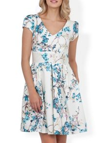 Almari V neck print full dress