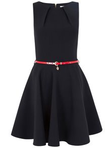 Closet  Flared belted dress
