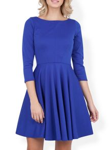 Closet Blu Flared 3/4 Sleeve Dress