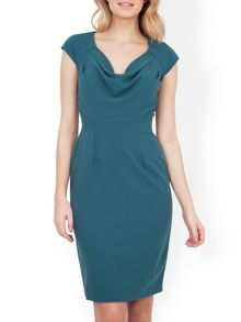 Almari Cowl Neck Button Back Dress