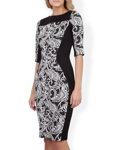 Tapestry Bodycon Dress