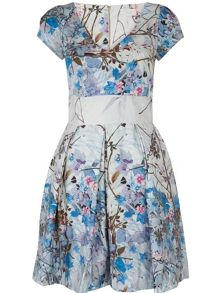 Almari V Neck Floral Pleat Dress