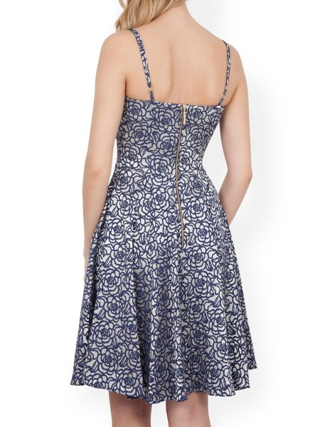 Almari Rose Jacquard Strappy Dress