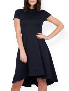 Jacquard High Low Dress