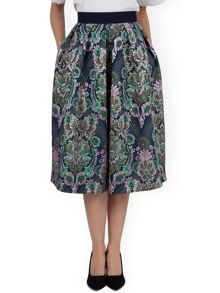 High Waist Midi Pleat Skirt