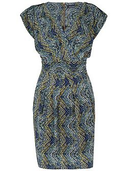 BLU Spot Wrap Tulip Dress