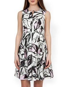Closet Spring Flower Pleat Dress