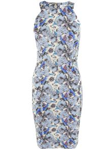 Closet Floral Racer Bodycon Dress