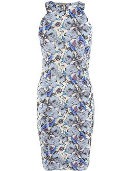 Floral Racer Bodycon Dress