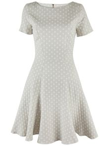 Almari Polka Dot A-Line Dress