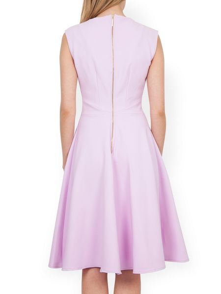 Almari V-Neck Midi Dress