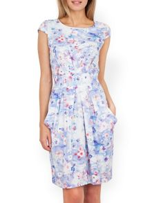 Almari Floral Tie Back Dress