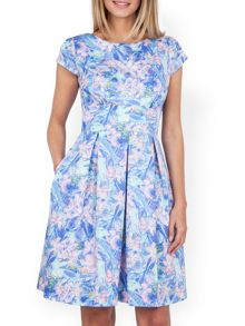 Almari Spring Floral Pleat Skirt Dress