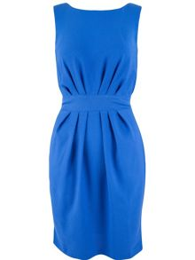 Almari Pleat Waist V-Back Dress