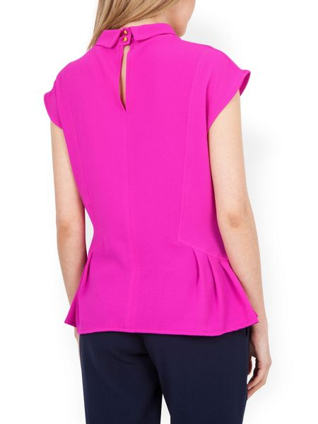 Closet High Neck Button Back Top