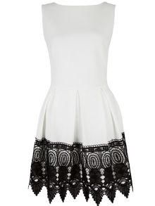 Lace Border Skater Dress