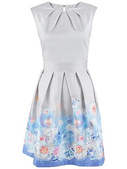 Almari Floral Pleat Dress