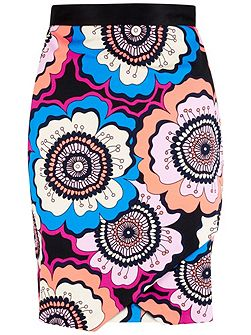 Retro Asymmetric Wrap Skirt