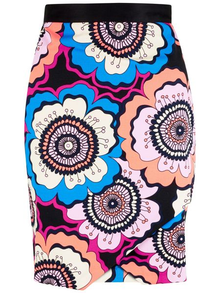 Closet Retro Asymmetric Wrap Skirt