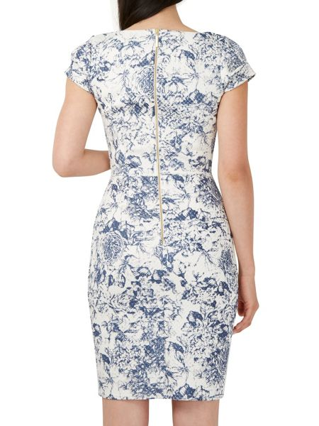 Closet Floral Ribbed Bodycon Dress