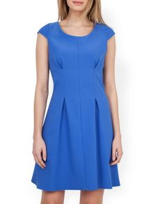 Closet Round Neck Pleat Detail Dress