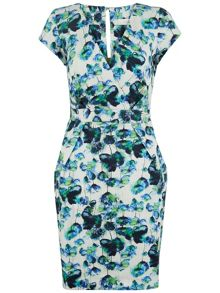Almari Floral Cross Over Dress