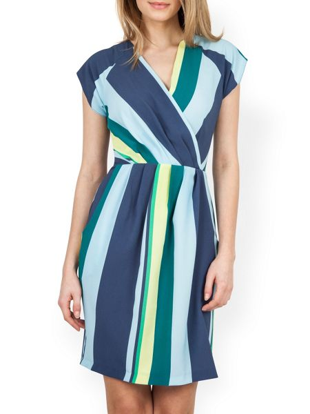Closet Stripe Cross Over Dress