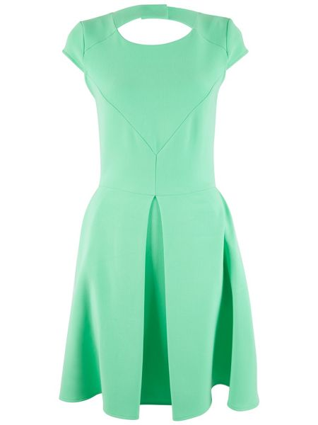 Almari Cap Sleeve Cut Out Back Dress