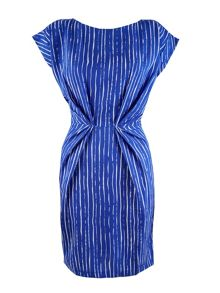 Stripe Pleat Waist Dress
