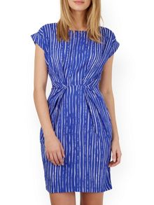 Closet Stripe Pleat Waist Dress