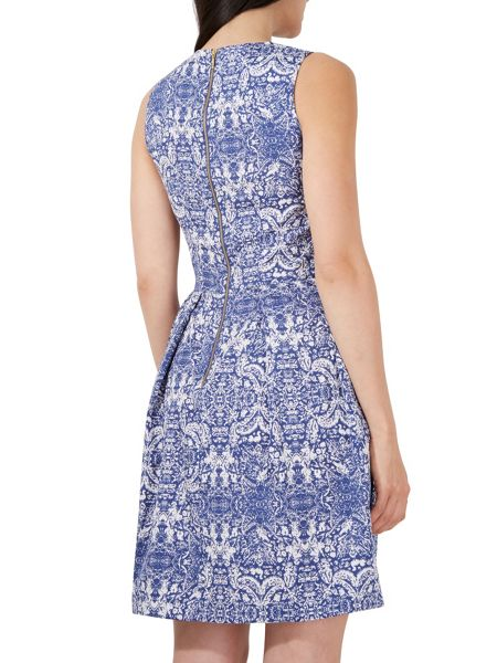 Closet Tile Print Tie Front Dress