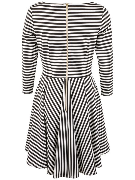 Closet Monochrome Stripe Skater Dress