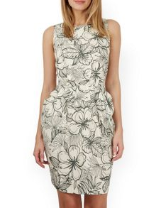 Closet Floral Scoop Back Dress