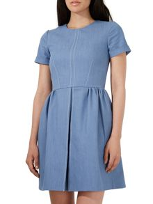Closet Denim Pleat Dress