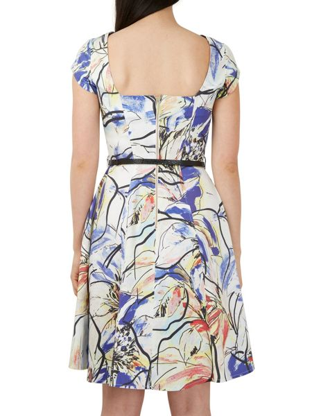 Closet Floral Cut Out Back Dress