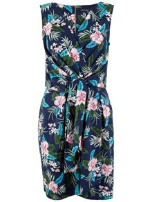 Closet Floral Tie Front Dress